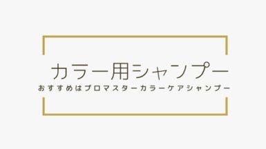 カラーケア用シャンプーのおすすめはコレ!|プロマスターカラーケア◎