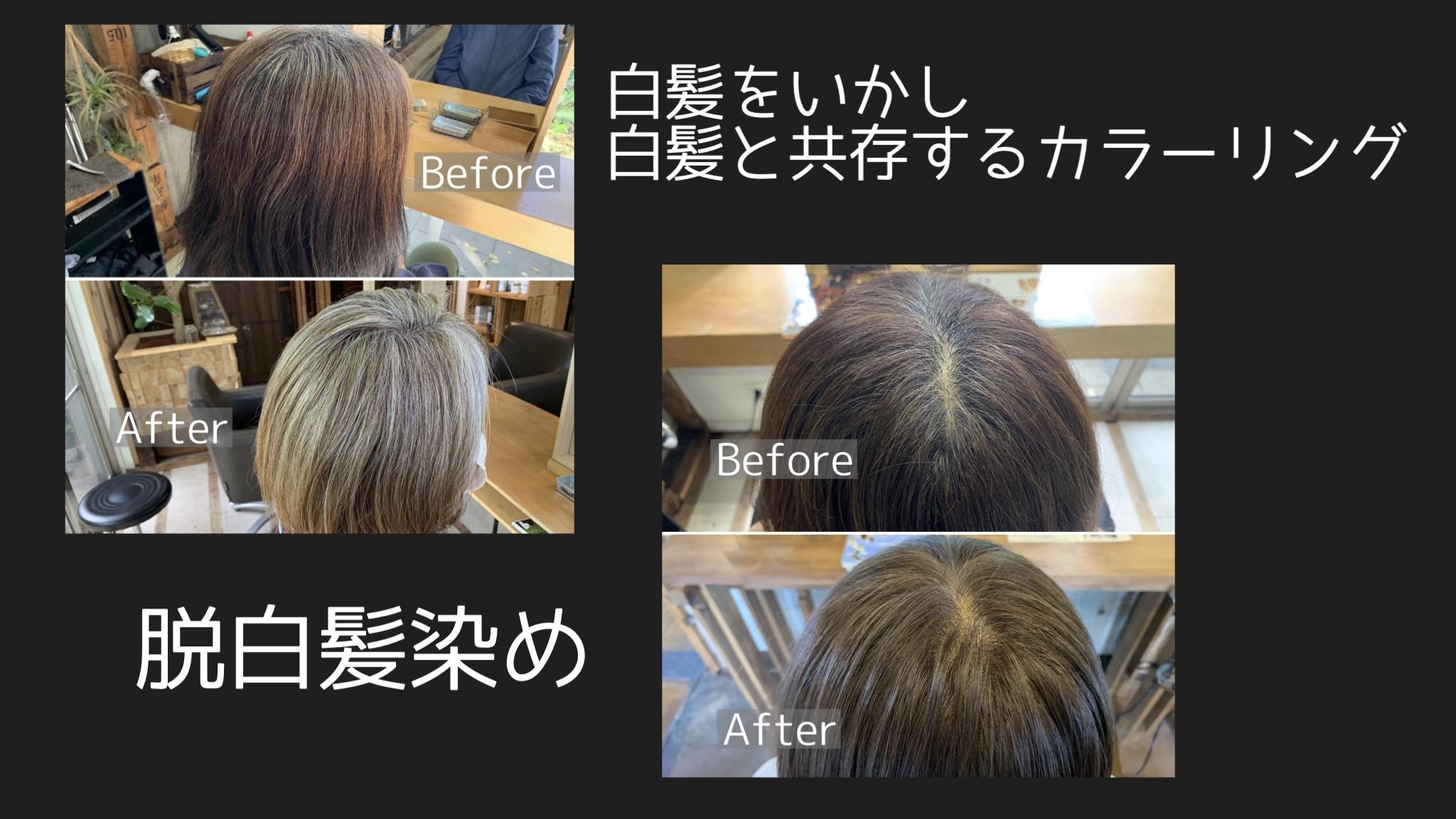 白髪をいかすハイライト|横浜